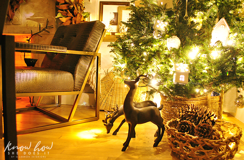 Holiday Small Home Tour tree basket