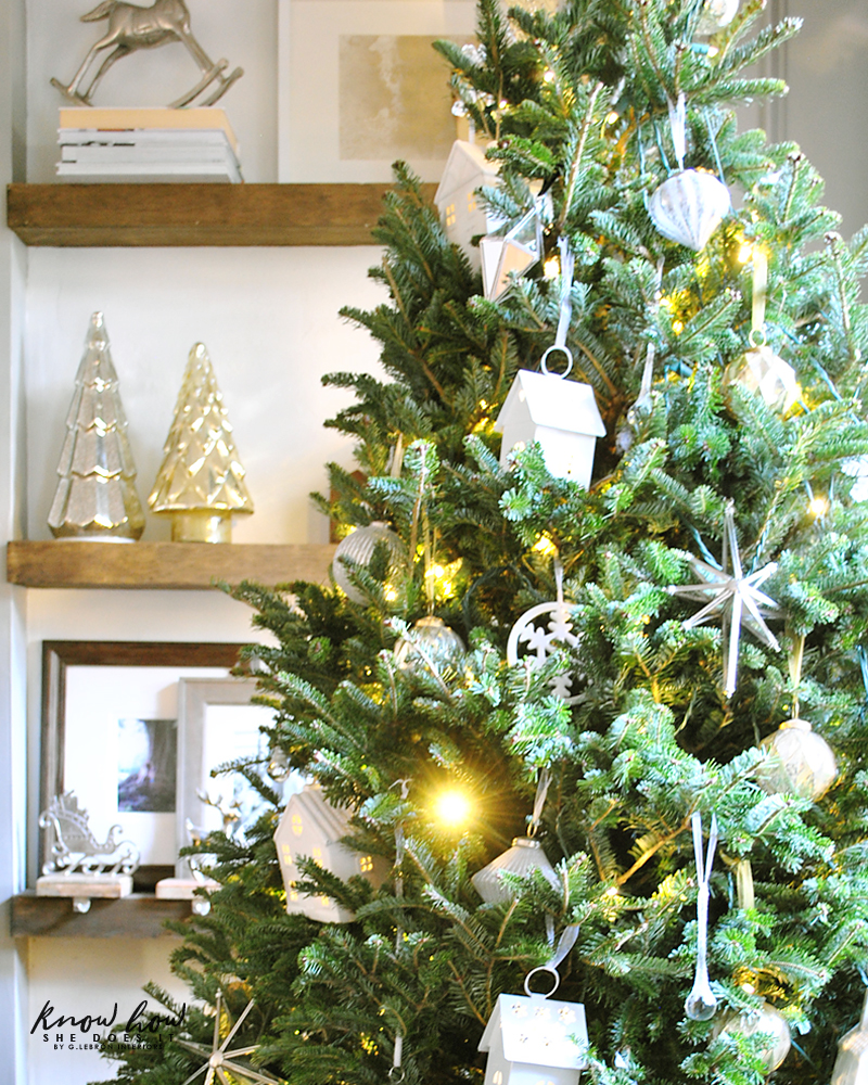 Holiday Small Home Tour simple tree