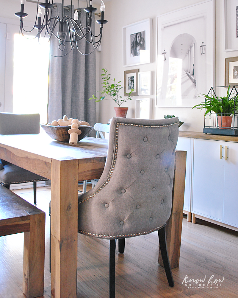Simple dining room end chairs
