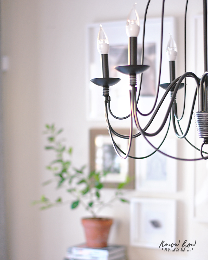 Simple dining room chandelier