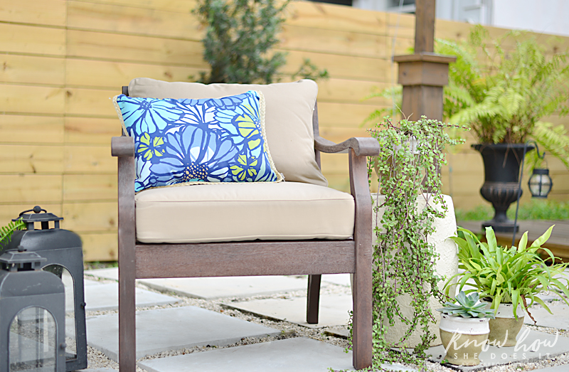 Colorful mix and match outdoor patio pieces 2