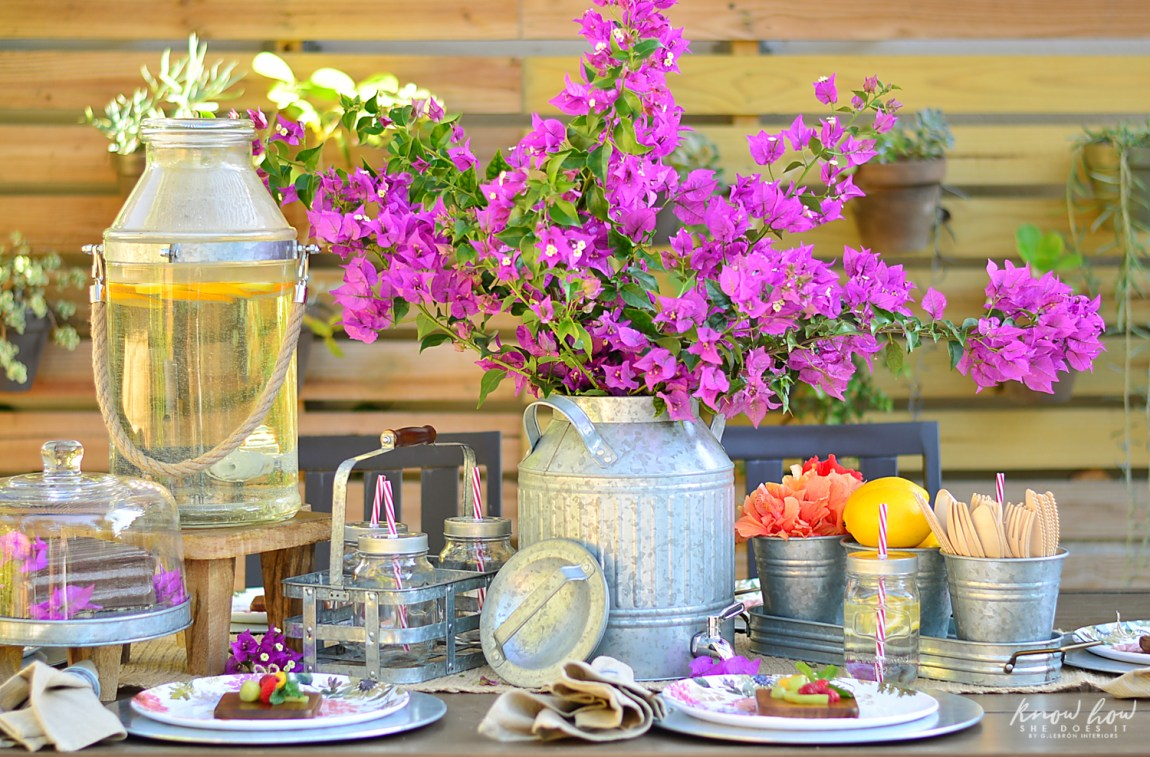 Bringing simple spring decor to outdoor entertaining Featured