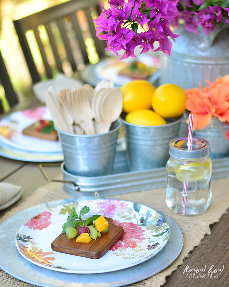 Bringing simple spring decor to outdoor entertaining Fruit Salad