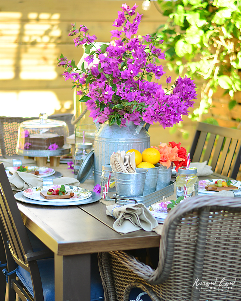 Bringing simple spring decor to outdoor entertaining Full Table Side