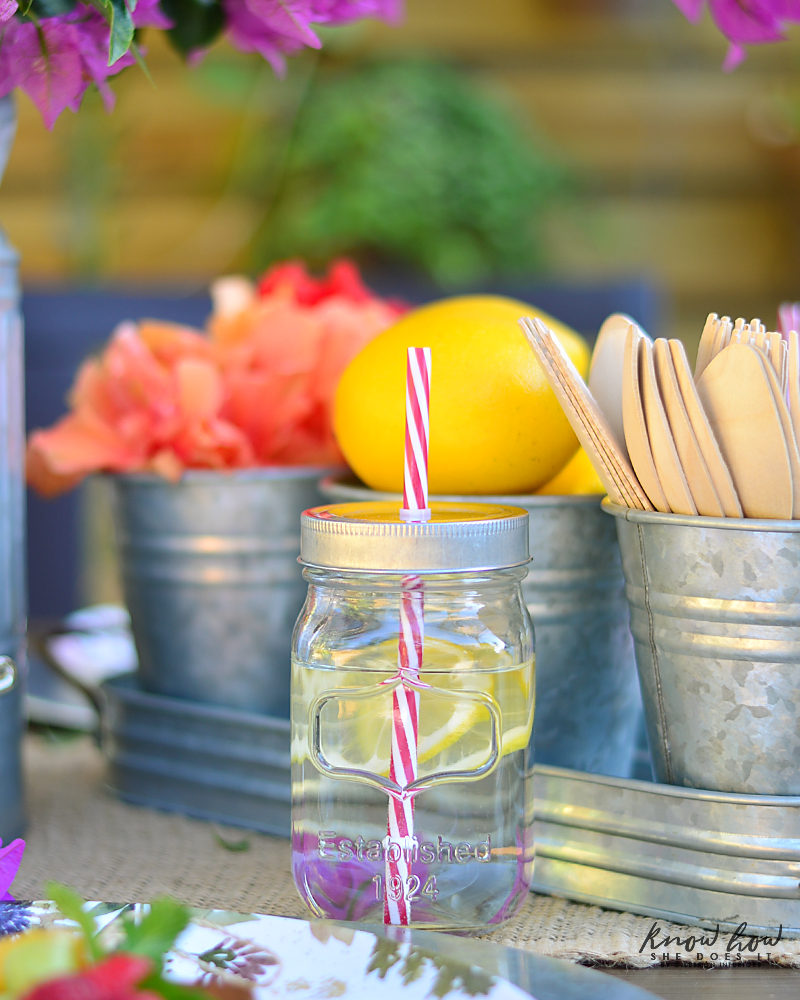 Bringing simple spring decor to outdoor entertaining Infused Water