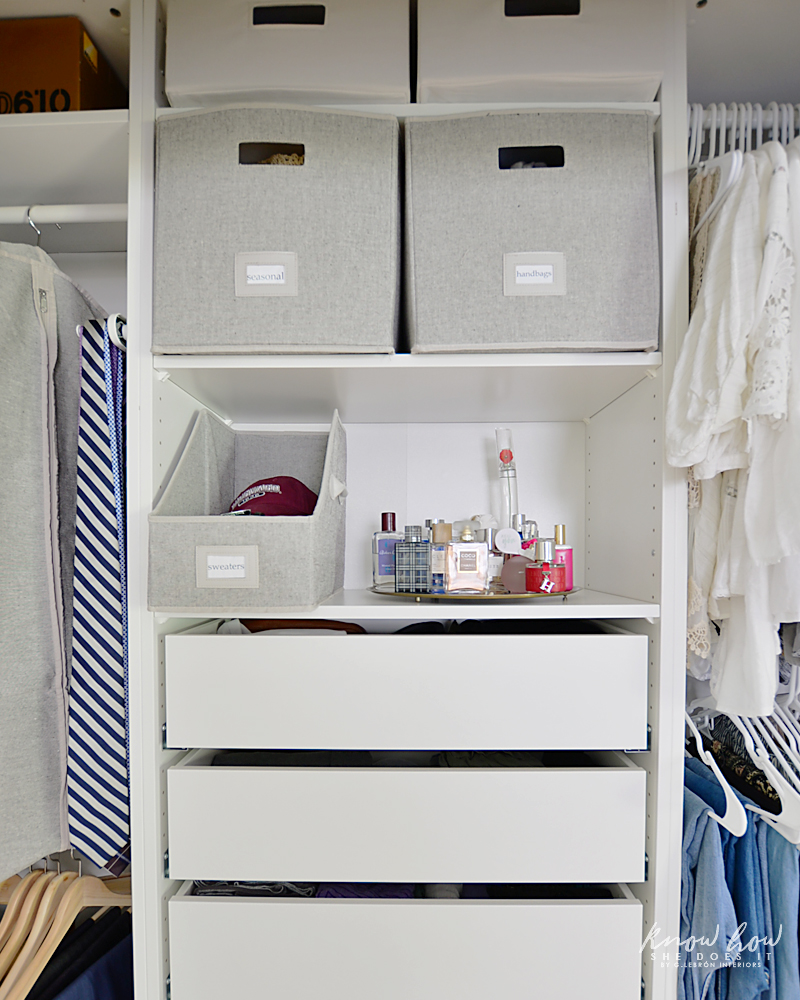 organizing tips for a clutter-free closet storage bins