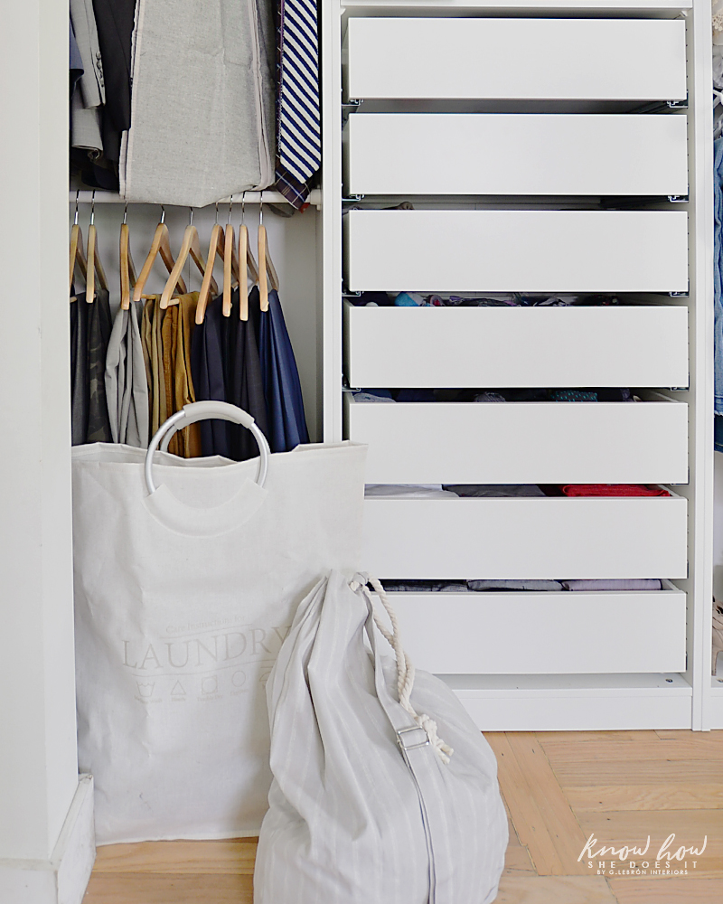 organizing tips for a clutter-free closet laundry 2