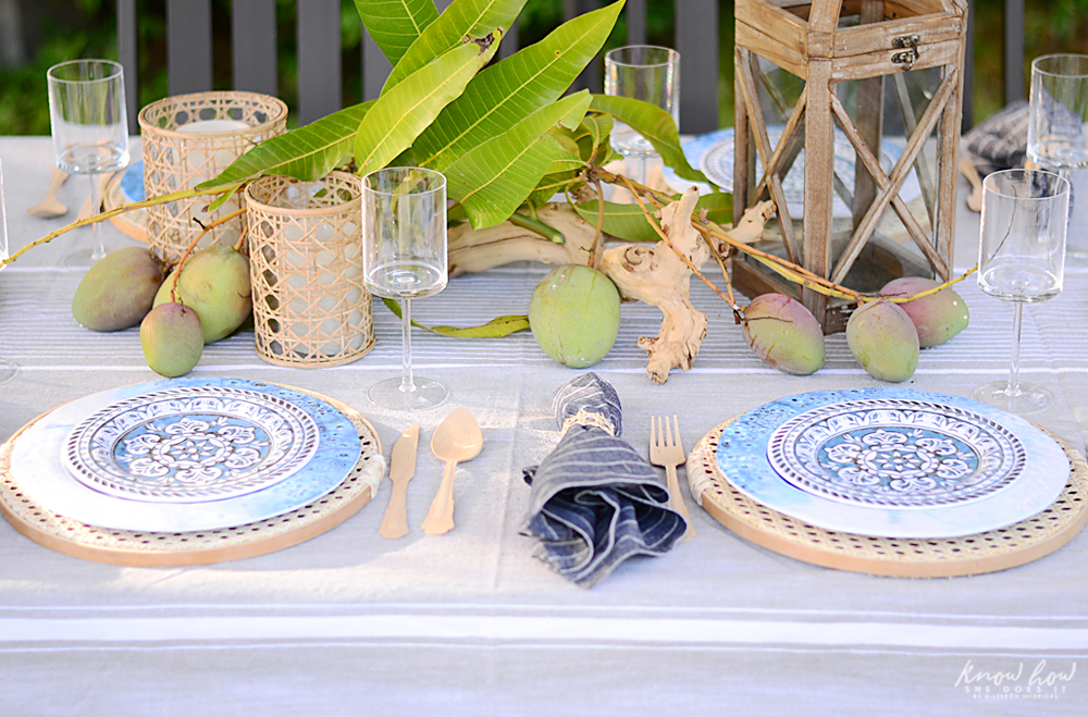 HomeGoods Summer Home Tour Table Setting 4