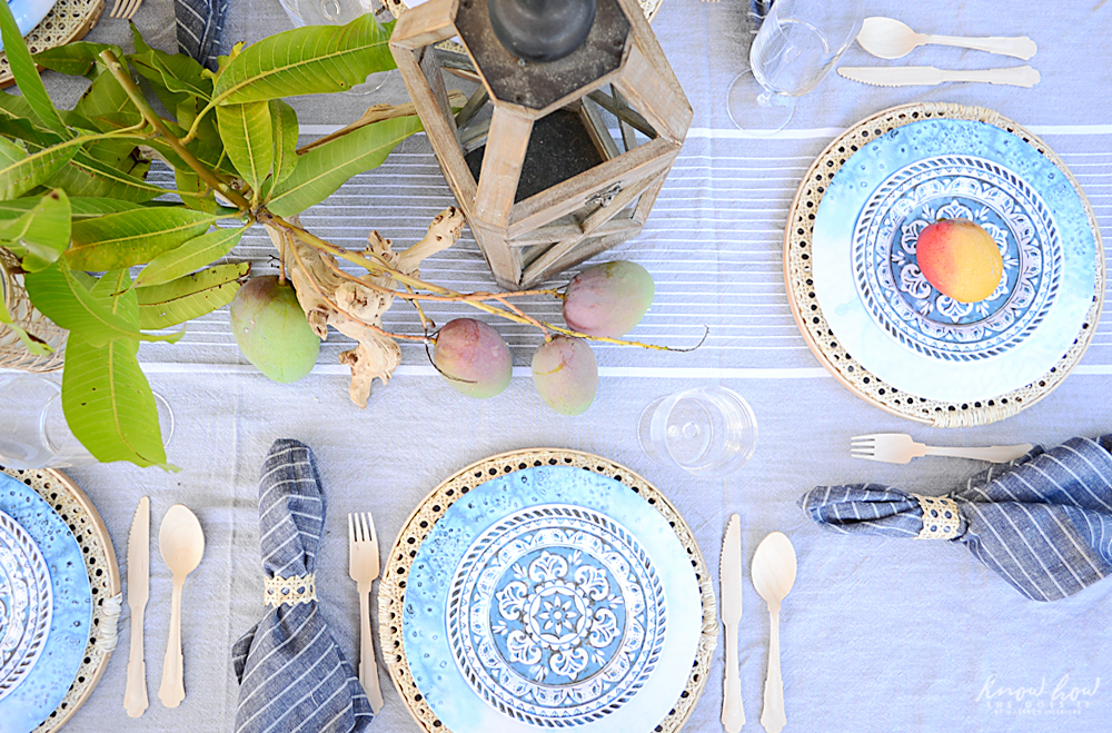 HomeGoods Summer Home Tour Table Setting 2