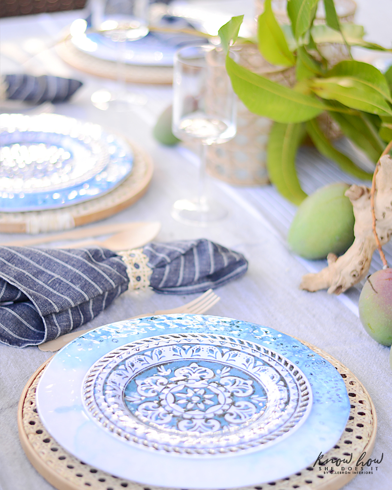 HomeGoods Summer Home Tour Melamine Plates 2