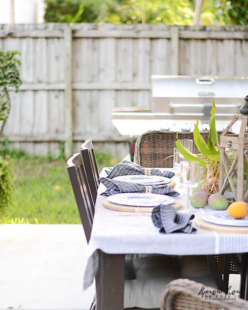 HomeGoods Summer Home Tour Table Setting Simple