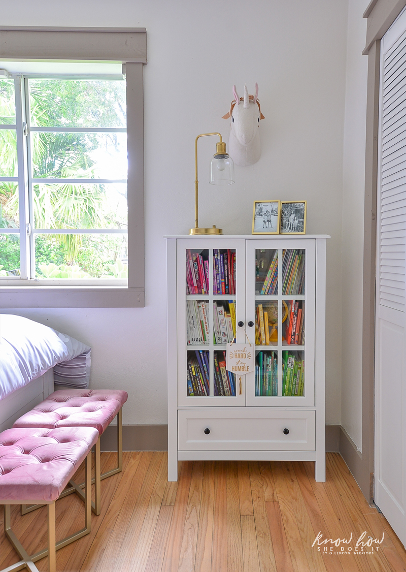 Project Color App Girl's Bedroom bookcase