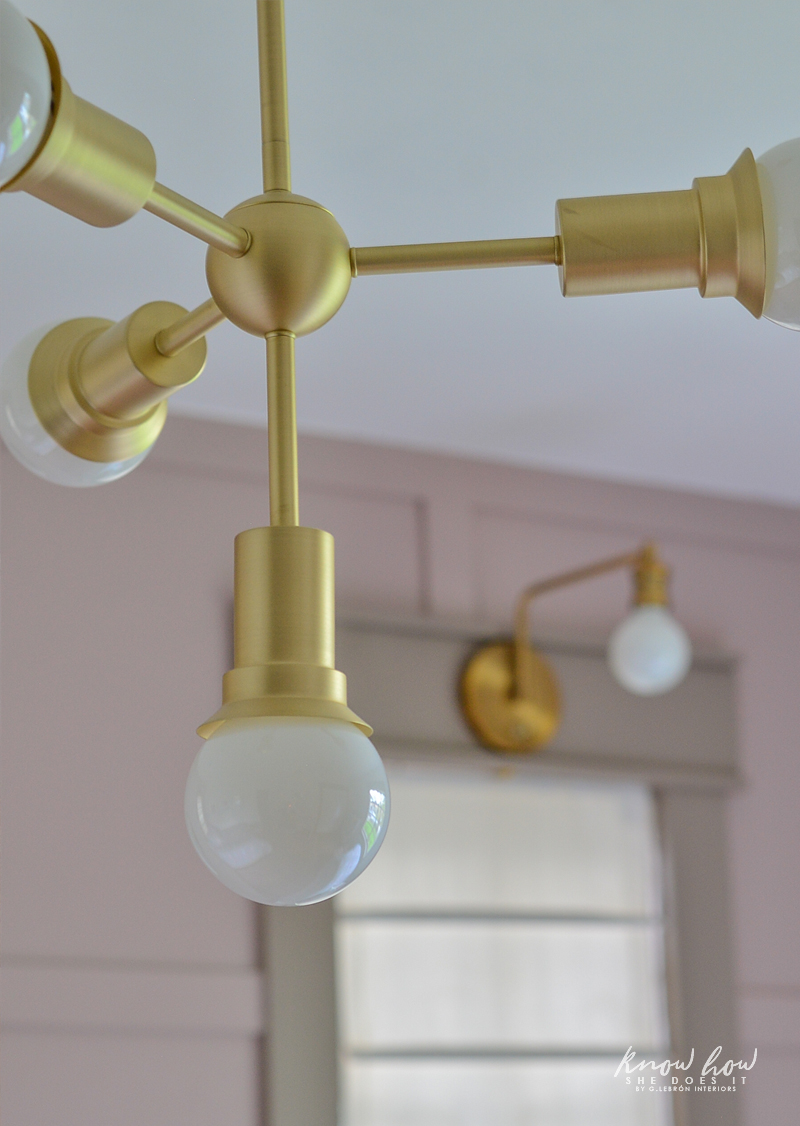 Project Color App Girl's Bedroom Chandelier