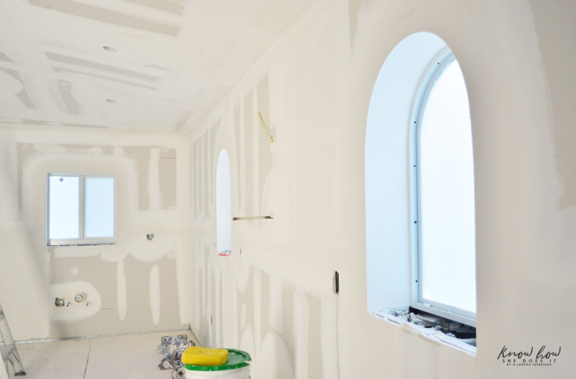 Small kitchen remodeling; talking about walls, floors and a budget hit Arched Window Final