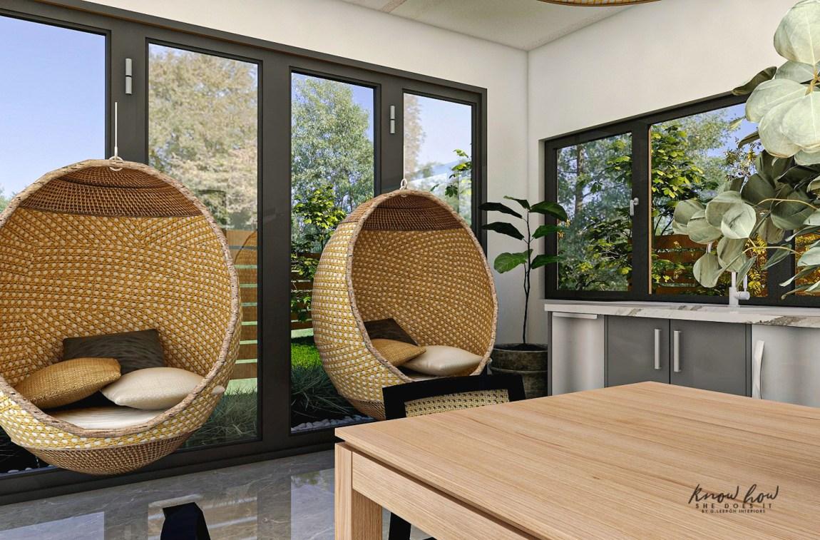 Virtual Guest House Wicker Chair