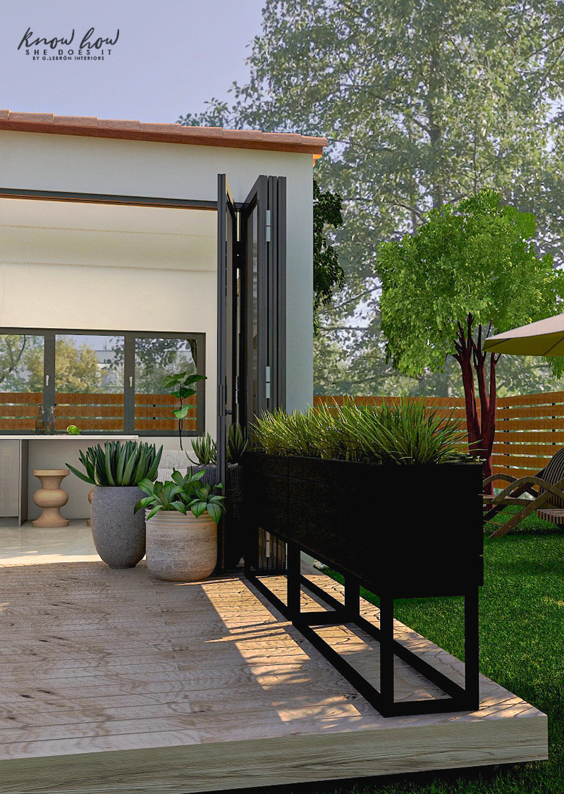 Virtual Guest House Tall Planters