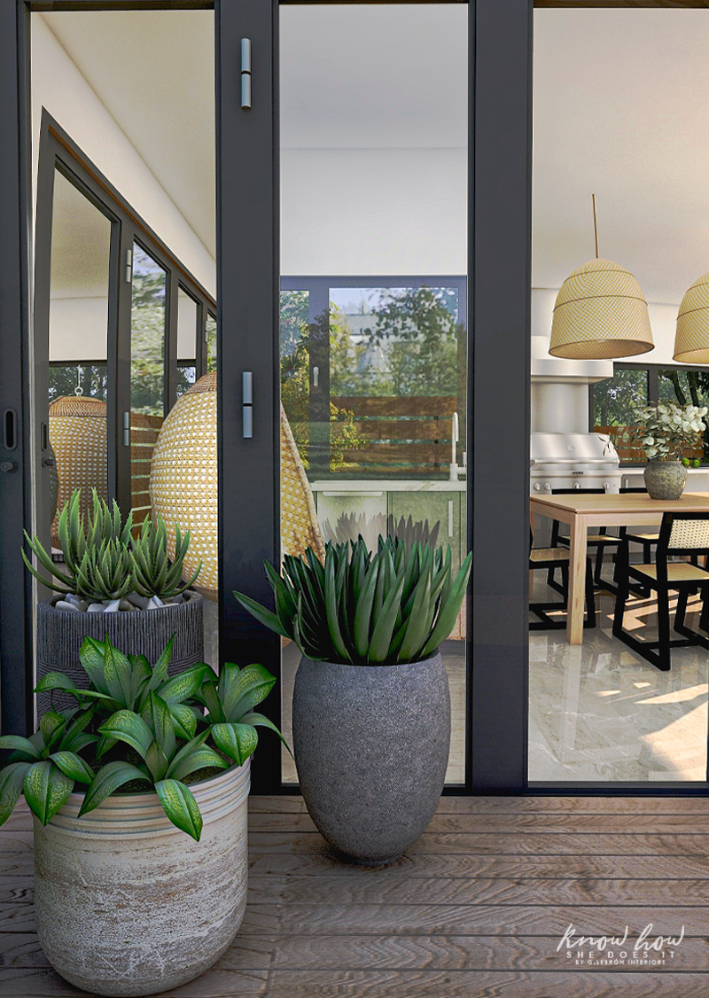 Virtual Guest House Outdoor Planters 1