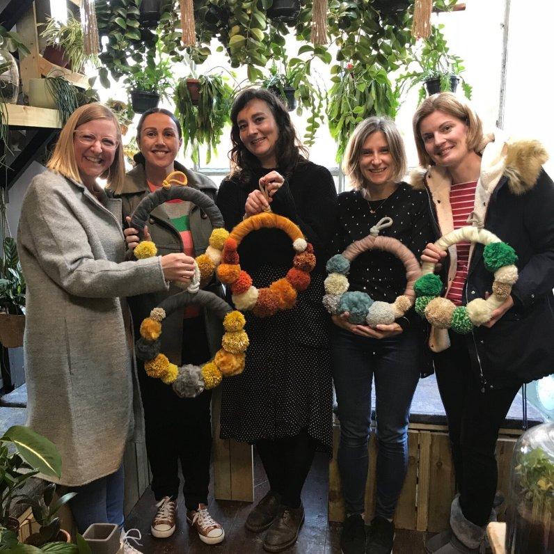 Pom+Pom+wreath