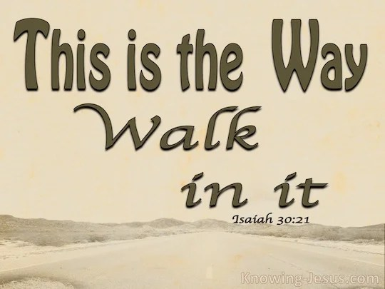 Isaiah 3021  Verse of the Day