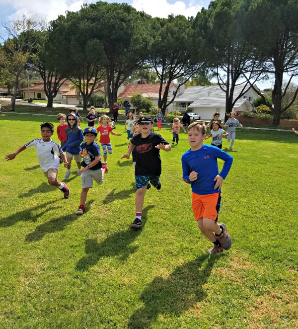Boys Running at Field Day – Week 5 2017