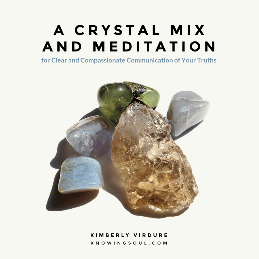 Crystal Mix and Meditation for Clear Communication of Your Truths