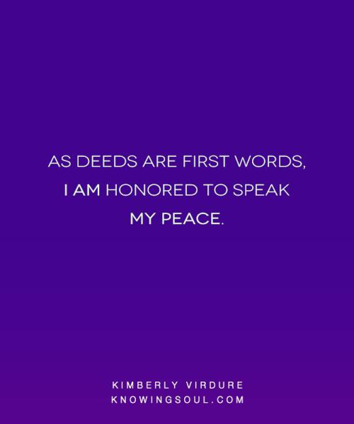 I Speak My Peace
