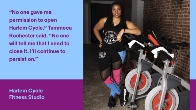 No one gave me permission to open Harlem Cycle, Tammeca Rochester said. No one will tell me that I need to close it. I'll continue to persist on.