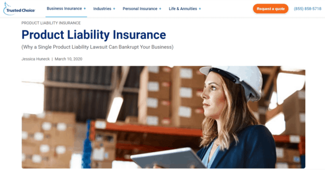 Product Liability Insurance example