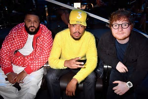 DJ Khaled, Chance the Rapper and Ed Sheeran