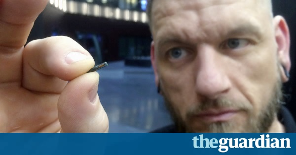 Man with microchip