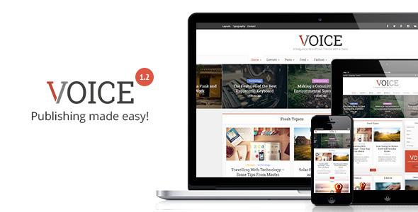 Voice Best WordPress theme
