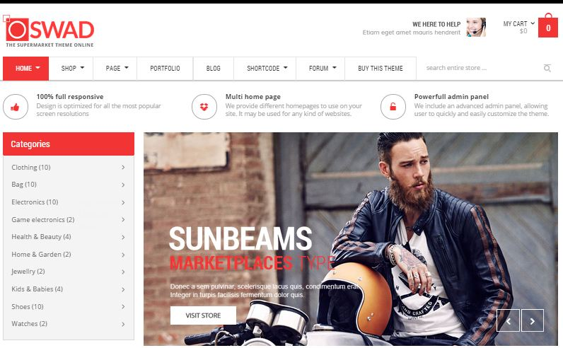 OSWAD WordPress eCommerce Themes