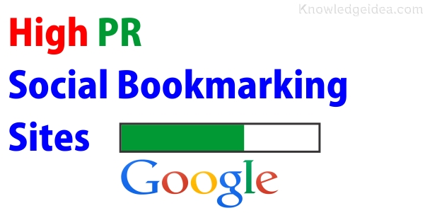 High PR Social Bookmarking Sites