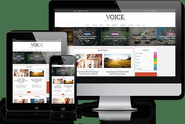 Voice WordPress Magazine themes