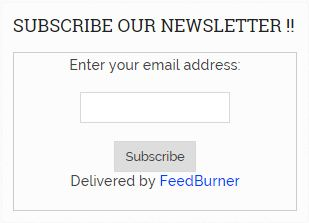 Add FeedBurner Subscription Box preview