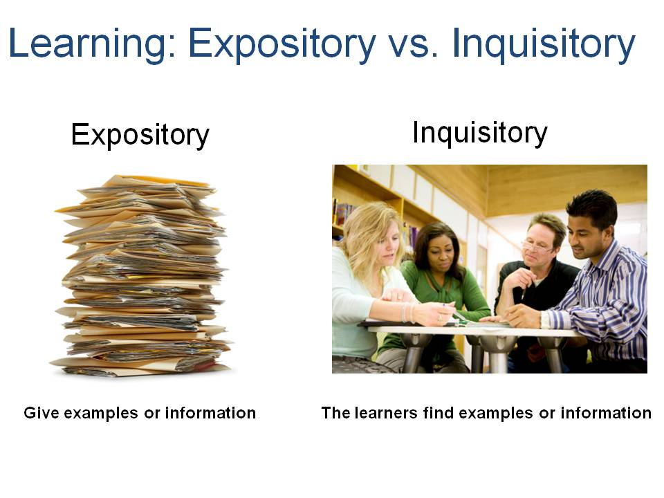 Expository and Inquisitory Instructional Design