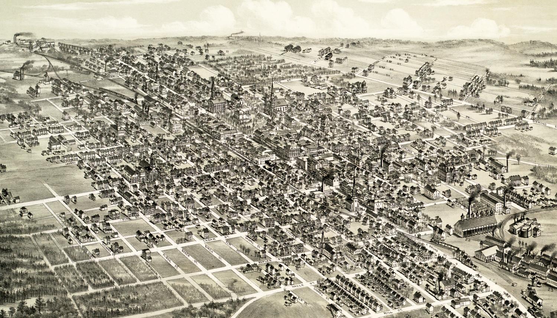 Historic Map Of Hazleton Pennsylvania From 1884 KNOWOL