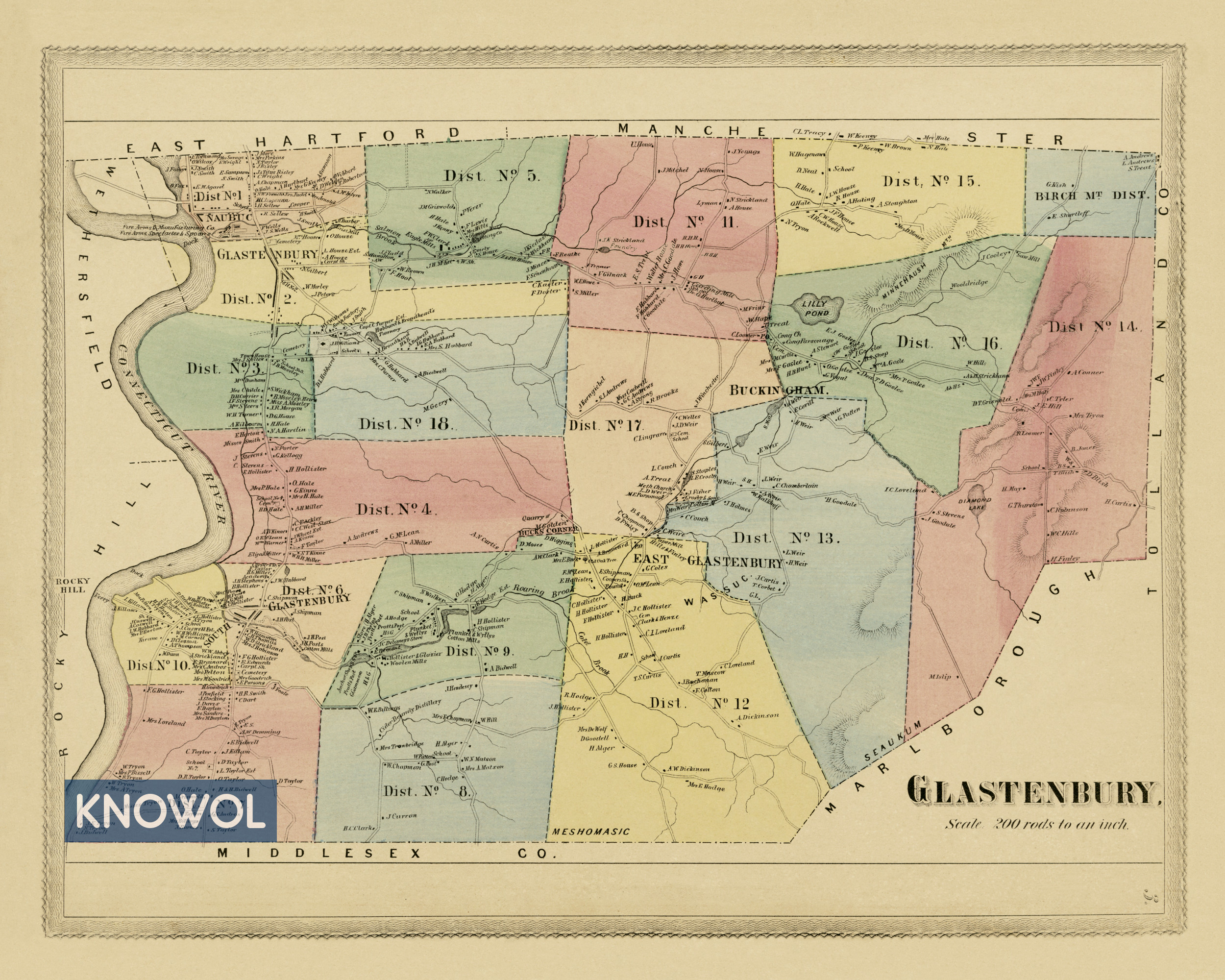 Town Cheshire Ct Map