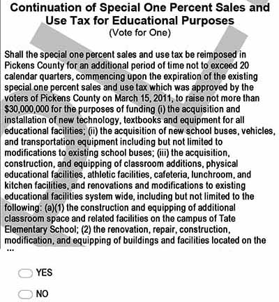 Pickens County Board of Education Chair Explains E-SPLOST