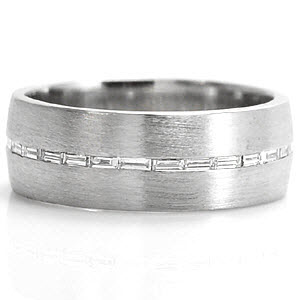 New Fashion Wedding Ring Mens Wedding Rings Baguette Diamonds