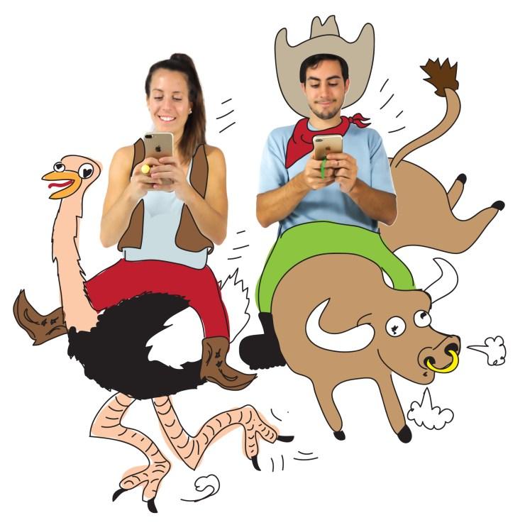 text-riding