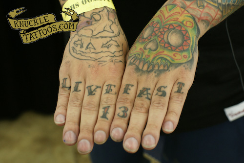 Gabriel from Ring of Fire Tattoo - LIVE FAST
