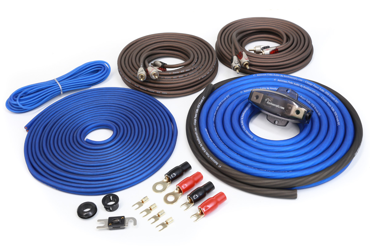 hight resolution of knukonceptz true 4 gauge 4 channel kolossus ofc amp installation amp wiring kit amp wiring kit images
