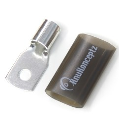 knukonceptz tinned copper 1 0 gauge crimp ring terminal black [ 1600 x 1200 Pixel ]