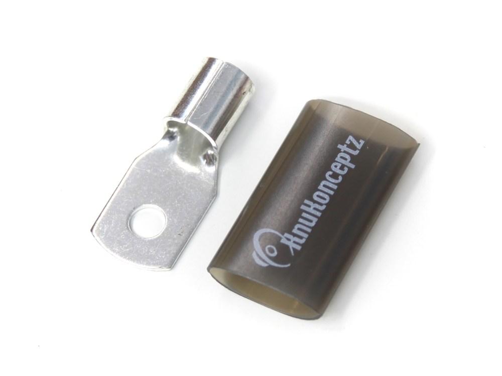 medium resolution of knukonceptz tinned copper 1 0 gauge crimp ring terminal black