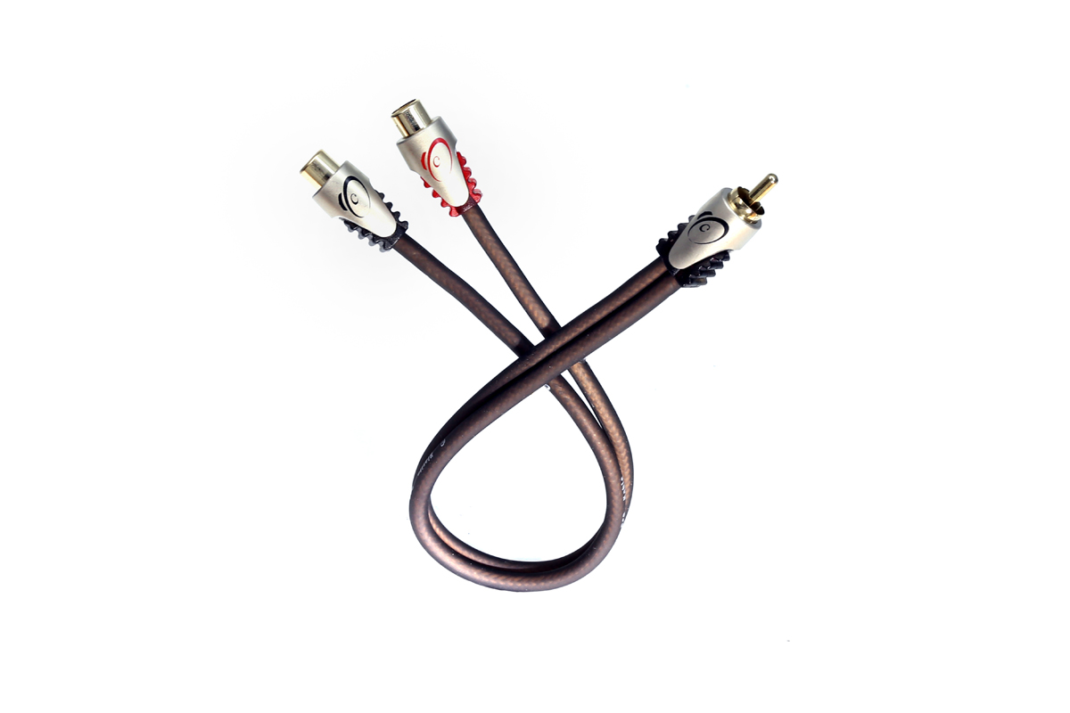 KnuKonceptz Klarity RCA Cable Y Adapter 1 Male to 2 Female