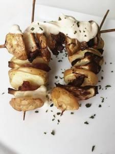 Aardappel spiesjes