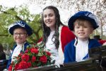 Knutsford 'Royal' May Queen 2017 with Train Bearers