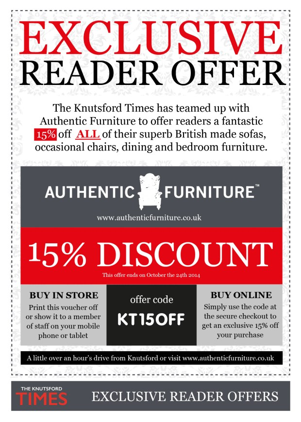 Click here to download the offer voucher of show this page to one the the Authentic Furniture sales team