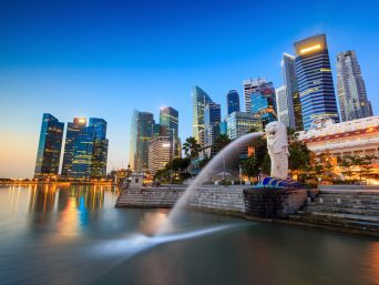 Merlion Fountain Singapore